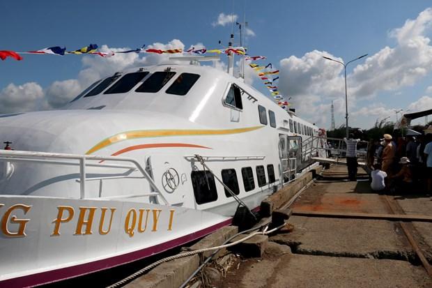平顺省潘切市至富贵岛高速客船正式投入运行 hinh anh 2