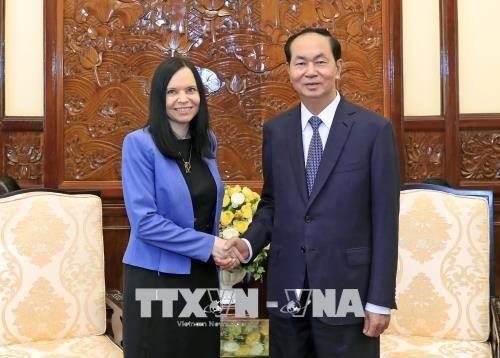 越南国家主席陈大光会见离任辞行的波兰驻越大使 hinh anh 1