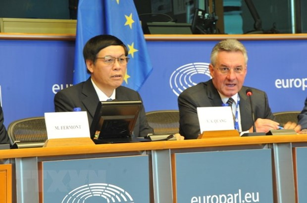 越南-欧盟自由贸易协定:最后的助推器 hinh anh 1