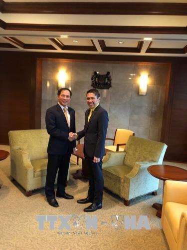 越南外交部副部长裴青山访问新加坡和印度 hinh anh 1