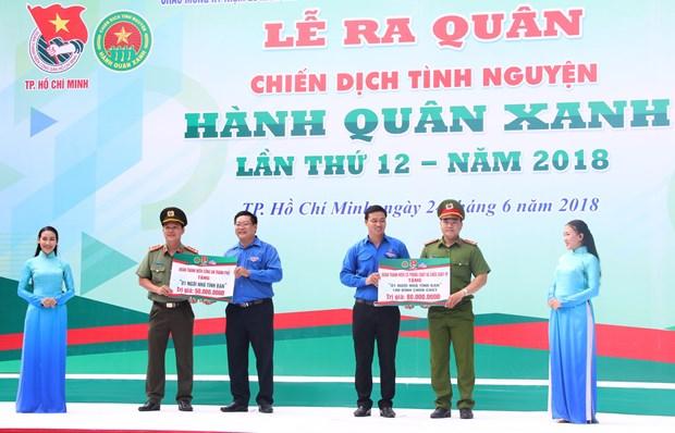 2018年第12次绿色行军志愿活动吸引1.8万名青年团员参加 hinh anh 1