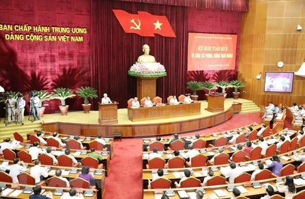 全国反腐败工作会议在河内召开 越共中央总书记阮富仲出席 hinh anh 1