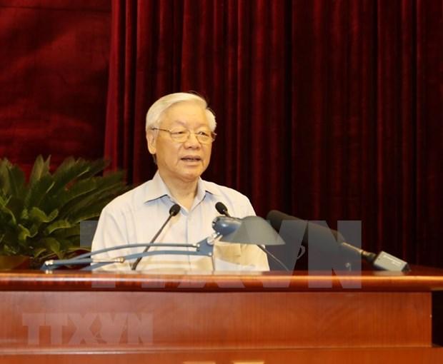全国反腐败工作会议在河内召开 越共中央总书记阮富仲出席 hinh anh 2