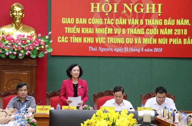 张氏梅:各级民运部门需当好各级党委的参谋助手 进一步提高人民生活质量 hinh anh 1