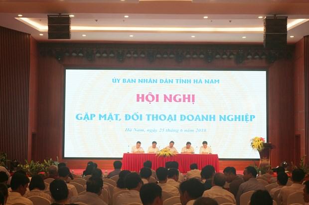 河南省领导与企业进行对话 hinh anh 2