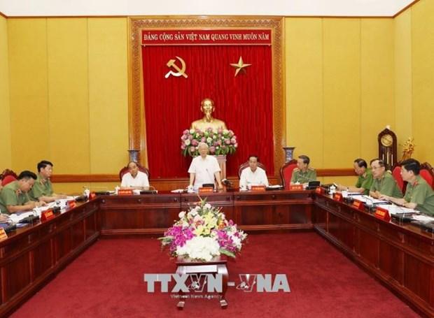 """阮富仲:人民公安力量需要成为保护党和国家的""""宝剑""""和""""盾牌"""" hinh anh 1"""