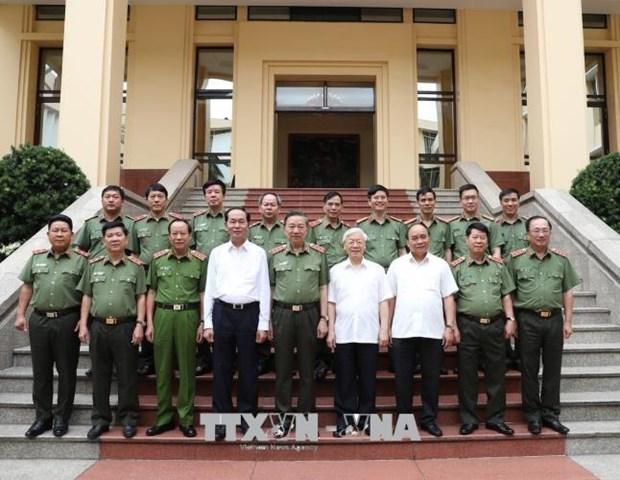 """阮富仲:人民公安力量需要成为保护党和国家的""""宝剑""""和""""盾牌"""" hinh anh 2"""