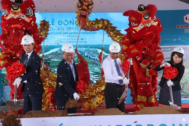 Waterpoint都市区项目的动工仪式在隆安省举行 hinh anh 1