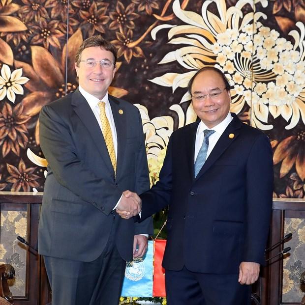 政府总理阮春福会见联合国下属机构领导 hinh anh 1