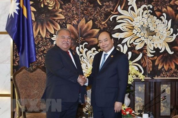 阮春福会见出席全球环境基金第六届成员国大会的各国领导 hinh anh 1