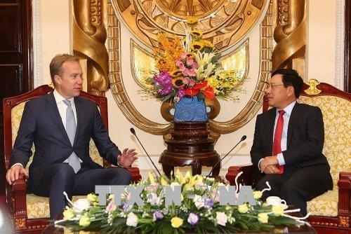 越南政府副总理兼外长范平明会见世界经济论坛执行董事博尔格·布伦德 hinh anh 1
