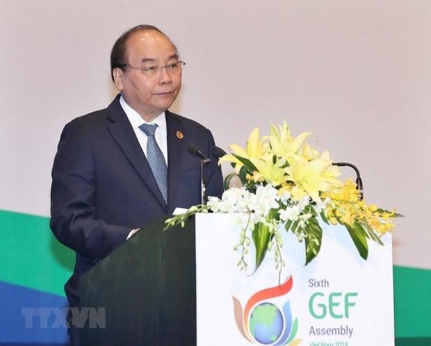 越南政府总理阮春福:越南愿同全球环境基金携手促进可持续发展 hinh anh 1