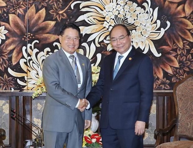 政府总理阮春福会见联合国下属机构领导 hinh anh 2
