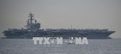 美国海军里根号航空母舰抵达菲律宾 hinh anh 1