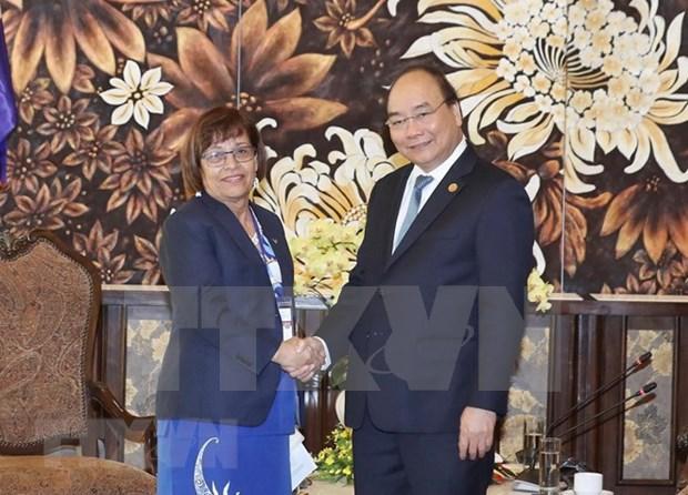阮春福会见出席全球环境基金第六届成员国大会的各国领导 hinh anh 2
