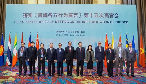 东盟国家与中国举行落实《东海各方行为宣言》第15次高官会 hinh anh 2