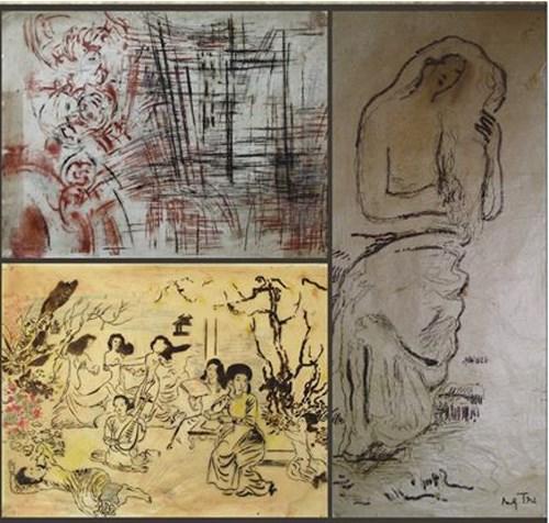 胡志明市美术博物馆展示阮家智画家的宝贵草图 hinh anh 1