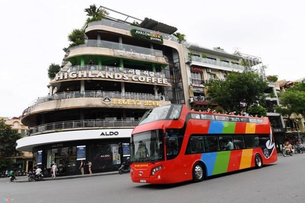 河内市调整双层观光巴士票价 hinh anh 1