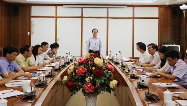 越南祖国阵线中央委员会主席陈青敏莅临永福省调研 hinh anh 1