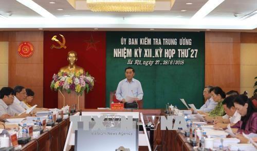 越共中央检查委员会第27次会议发布公报 hinh anh 1
