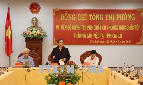 越南国会常务副主席丛氏放: 提高儿童生活质量 hinh anh 1