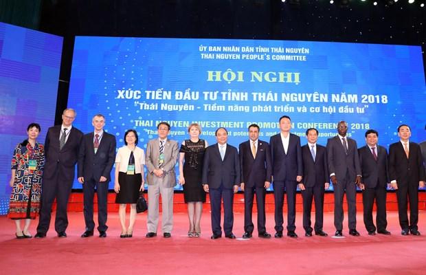 政府总理阮春福出席太原省投资促进会议 hinh anh 1