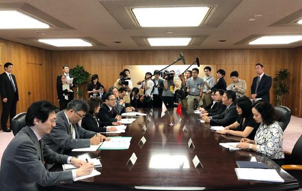 RCEP部长级会议间隙越南工贸部长陈俊英与日本领导举行双边会晤 hinh anh 2