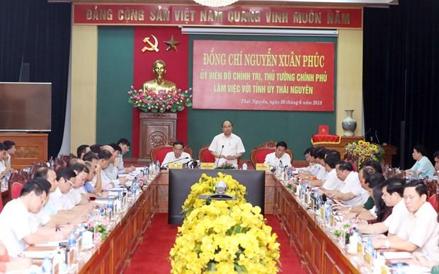 政府总理阮春福:太原省以三大经济支柱实现多样化发展 hinh anh 1