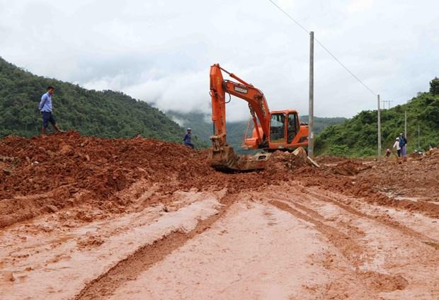 北部山区暴雨洪灾救灾工作:多条国省干线公路修复工作完成通车 hinh anh 2