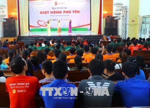 1000多人参加在富安省举行的无偿献血活动 hinh anh 1