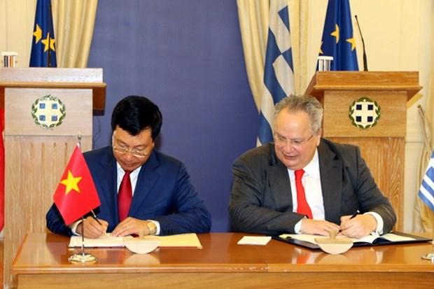 越南政府副总理兼外交部长范平明对希腊进行正式访问 hinh anh 3