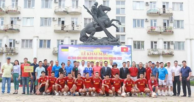 旅居乌克兰越南人运动会在哈尔科夫州举行 hinh anh 1