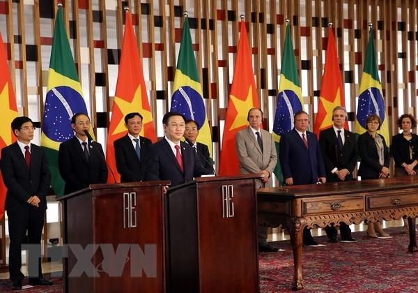 越南政府副总理王廷惠对巴西进行正式访问 hinh anh 2