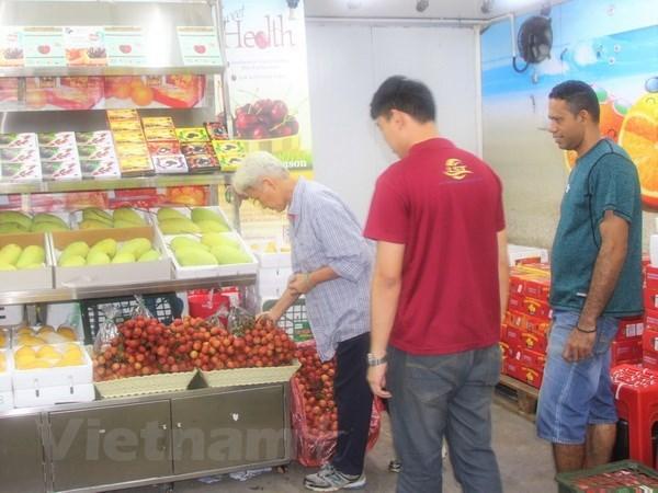 越南荔枝颇受马来西亚消费者的青睐 hinh anh 1