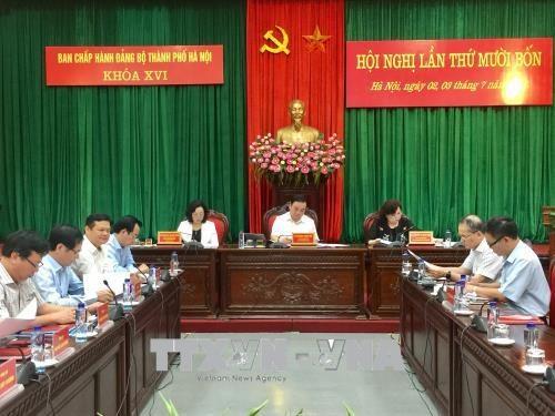 河内市市委第16届执行委员会第14次会议今日闭幕 hinh anh 1