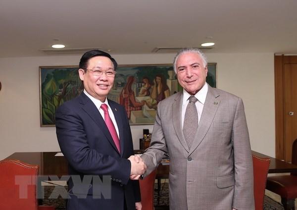 越南政府副总理王廷惠对巴西进行正式访问 hinh anh 1