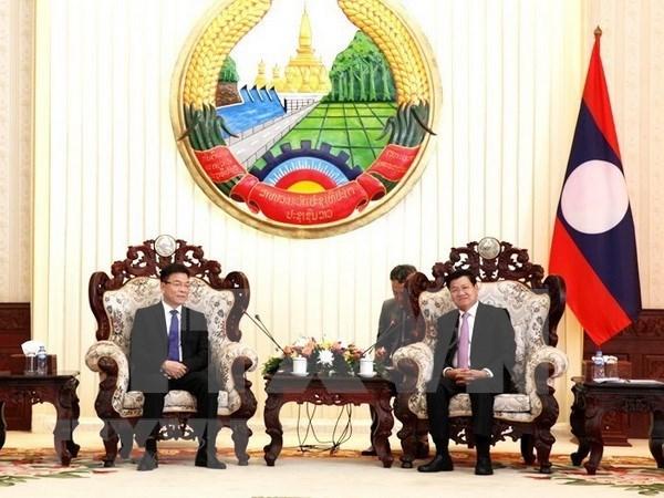 老挝领导人高度评价老越两国司法部合作成果 hinh anh 1