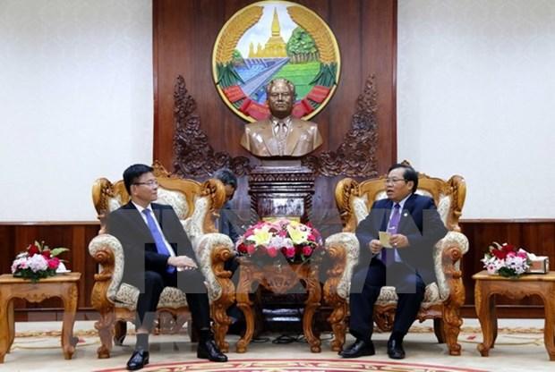 老挝领导人高度评价老越两国司法部合作成果 hinh anh 2