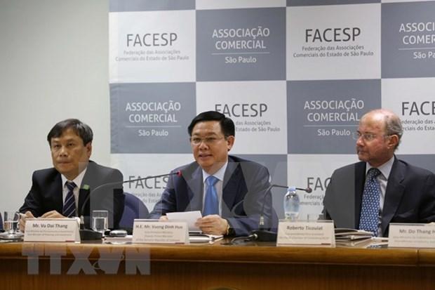 王廷惠出席越南巴西企业家论坛 促进越巴两国贸易投资合作 hinh anh 1