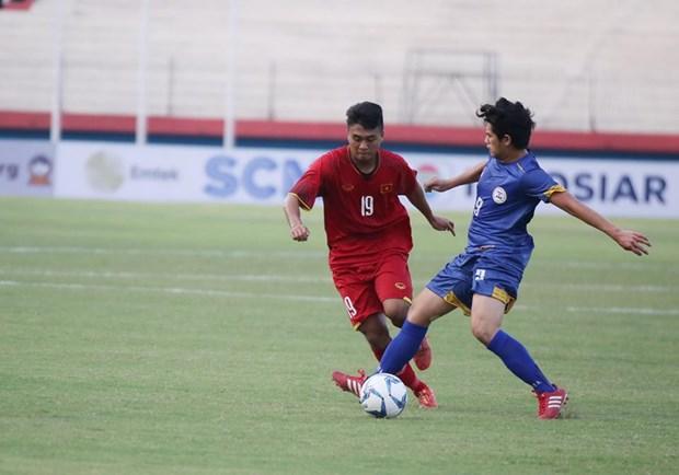 2018年东南亚U19足球锦标赛:越南队以5比0击败菲律宾队 hinh anh 1