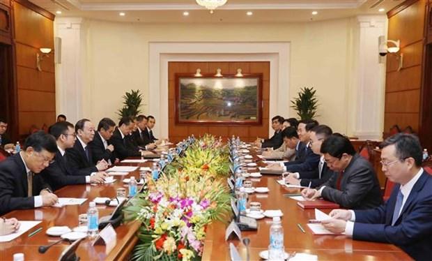 越共中央总书记阮富仲会见中国共产党代表团 hinh anh 3