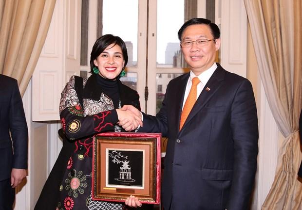 政府副总理王廷惠圆满结束对智利的正式访问 hinh anh 2