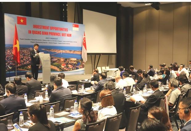 加强广平省与新加坡伙伴的投资合作 hinh anh 1