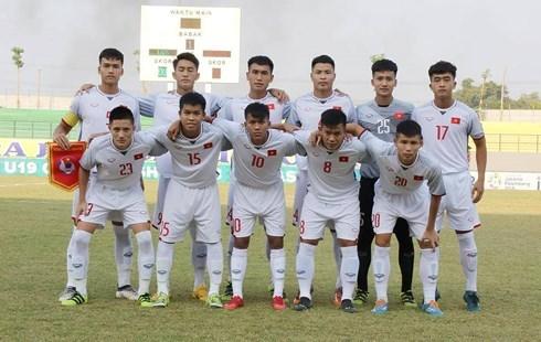 2018年东南亚U19男足锦标赛:越南队大胜老挝队 hinh anh 1