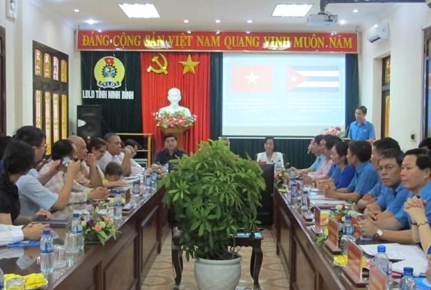 古巴工人中央工会代表团对越南宁平省进行工作访问 hinh anh 1