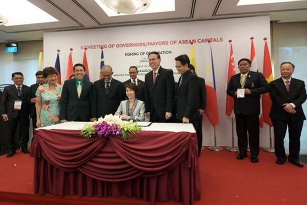 东盟十国首都签署关于环境可持续性的新加坡宣言 hinh anh 1