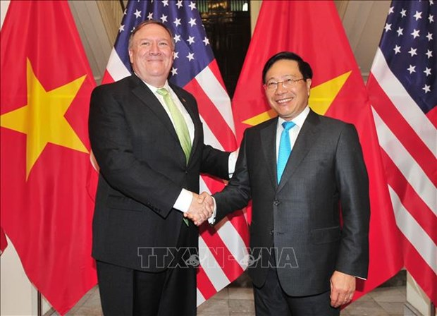 越南政府副总理兼外长范平明与美国国务卿举行会谈 hinh anh 1