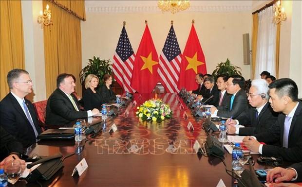 越南政府副总理兼外长范平明与美国国务卿举行会谈 hinh anh 2