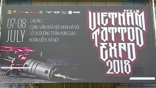 越南最具规模文身艺术展吸引世界100多名文身师参加 hinh anh 1