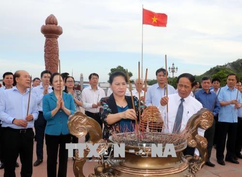 越南国会主席阮氏金银在海防市调研 hinh anh 1
